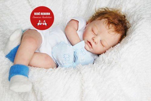 Bebê Reborn Menino Com Características Idênticas A Um Bebê De Verdade Com Enxoval E Chupeta