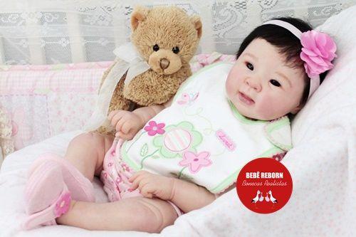 Bebê Reborn Menina Detalhes Reais Bebê Oriental Maravilhosa Rica Em Detalhes Com Enxoval