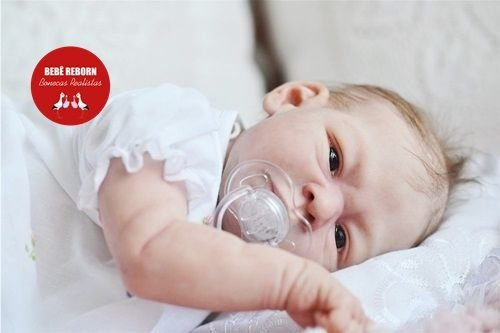 Boneca Bebê Reborn Menina Detalhes Reais Muito Fofa E Delicada Acompanha Acessórios