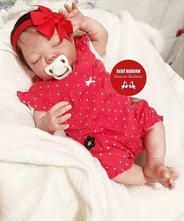 Bebê Reborn Menina Detalhes Reais Bebê Moreninha Bela E Encantadora Com Chupeta E Enxoval
