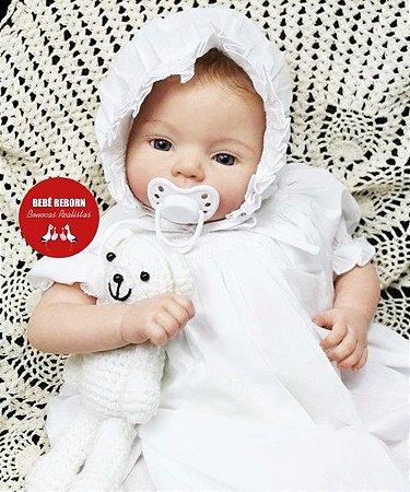 Bebê Reborn Menina Bebê Quase Real Linda Princesa Com Enxoval Completo E Chupeta