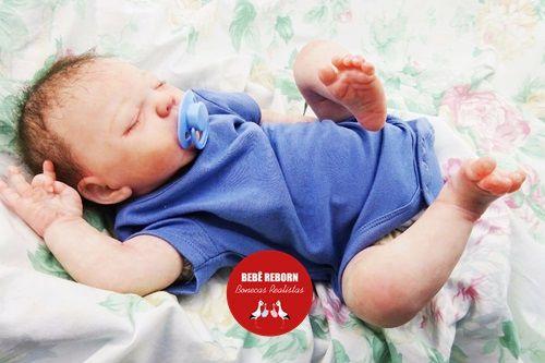 Bebê Reborn Menino Detalhes Reais Bebê Encantador E Perfeitinho Com Chupeta E Enxoval