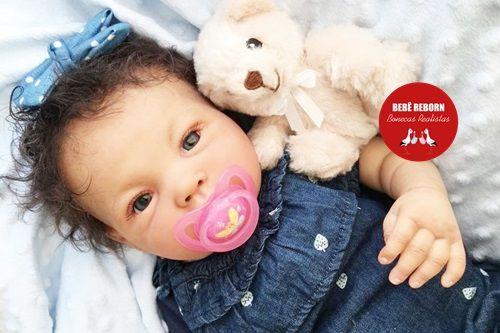 Bebê Reborn Menina Detalhes Reais Graciosa E Perfeitinha Acompanha Chupeta E Lindo Enxoval