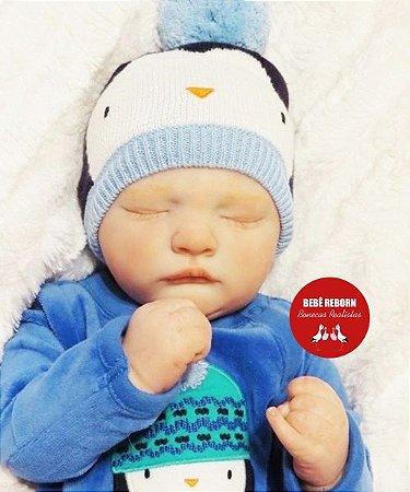 Bebê Reborn Menino Bebê Quase Real Uma Fofura Recém Nascido Com Enxoval Completo