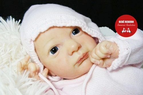 Boneca Bebê Reborn Menina Realista Linda Bebê Reborn Encantadora Com Enxoval E Chupeta