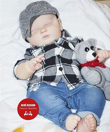 Bebê Reborn Menino Detalhes Reais Criança Grande Toddler 60 Cm Muito Fofo Super Promoção