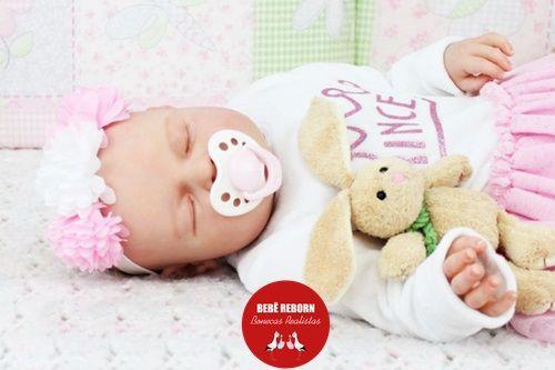 Boneca Bebê Reborn Menina Realista Bebê Encantadora Com Acessórios E Enxoval Completo