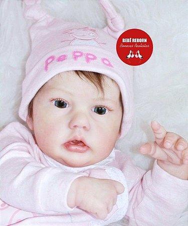 Boneca Bebê Reborn Menina Bebê Quase Real Super Linda Com Enxoval E Chupeta Super Promoção