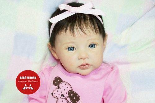 Boneca Bebê Reborn Menina Detalhes Reais Princesinha Encantadora 49 Cm Com Lindo Enxoval