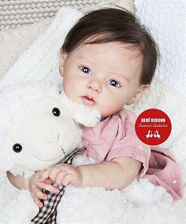 Boneca Bebê Reborn Menina Parece Um Bebê De Verdade Princesa Encantadora E Sofisticada