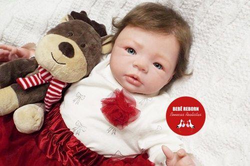 Boneca Bebê Reborn Menina Detalhes Reais Muito Fofa Acompanha Lindo Enxoval E Chupeta