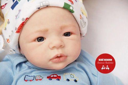 Bebê Reborn Menino Realista Parece Um Bebê De Verdade Encantador Acompanha Lindo Enxoval