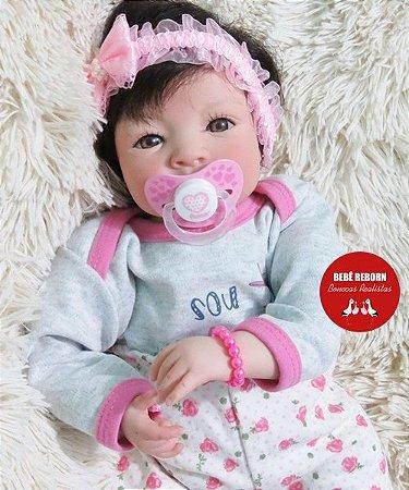 Boneca Bebê Reborn Menina Realista Parece Um Bebê De Verdade Recém Nascida Com Enxoval