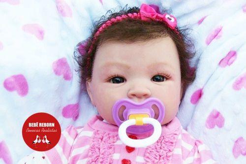 Bebê Reborn Menina Realista Princesa Bonita E Sofisticada Acompanha Lindo Enxoval E Chupeta