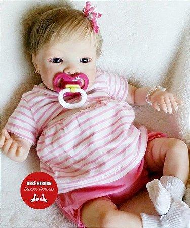 Bebê Reborn Menina Detalhes Reais Linda E Perfeita Bebê Artesanal Sofisticada Com Enxoval