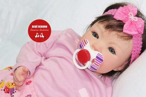 Boneca Bebê Reborn Menina Bebê Quase Real Super Fofa E Encantadora Acompanha Lindo Enxoval