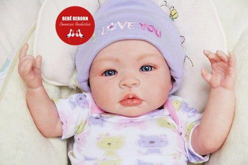 Boneca Bebê Reborn Menina Bebê Quase Real Sofisticada E Perfeita Com Enxoval Completo