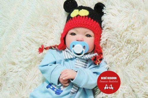 Bebê Reborn Menino Detalhes Reais Bebê Recém Nascido Anjinho Delicado Acompanha Chupeta