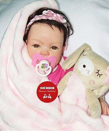 Bebê Reborn Menina Realista Boneca Encantadora Bebê Recém Nascida Acompanha Acessórios