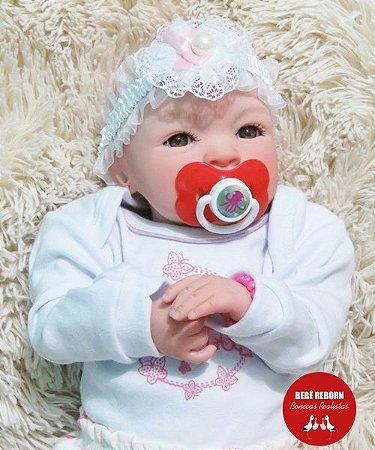 Bebê Reborn Menina Bebê Quase Real Princesinha Com Lindo Enxoval E Acessórios Super Promoção