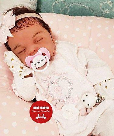 Bebê Reborn Menina Realista Lindíssima Toda Em Silicone Sólido Parece Um Bebê De Verdade