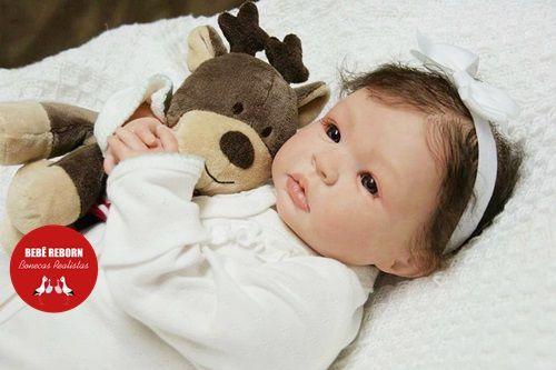 Boneca Bebê Reborn Menina Bebê Quase Real Delicada E Encantadora Acompanha Lindo Enxoval