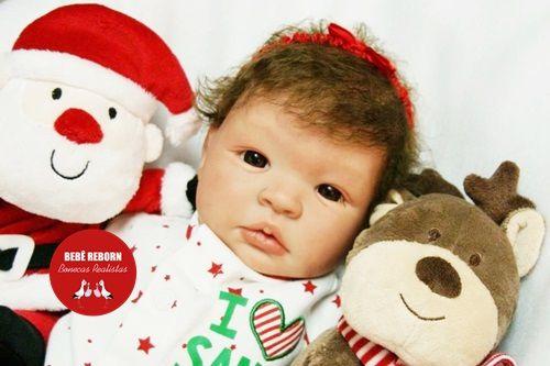 Boneca Bebê Reborn Menina Realista Lindíssima Bebê Quase Real Acompanha Enxoval E Acessórios