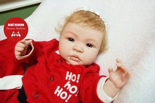 Bebê Reborn Menina Detalhes Reais Bebê Recém Nascida Loirinha Muito Fofa Com Lindo Enxoval