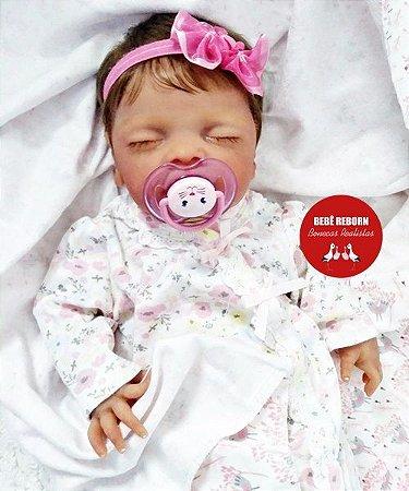 Boneca Bebê Reborn Menina Detalhes Reais De Um Bebê De Verdade Toda Em Silicone Sólido