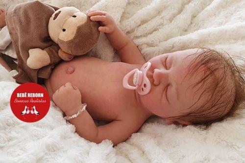 Bebê Reborn Menina Toda Em Silicone Sólido Com Detalhes Reais Acompanha Enxoval E Acessórios