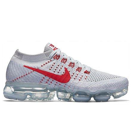 Tênis Nike Air Max VaporMax Flyknit - Branco e Vermelho