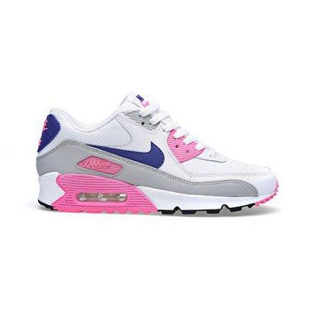 air max 90 azul e rosa