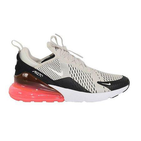 Tênis Nike Air Max 270 - Bege com Preto e Vermelho