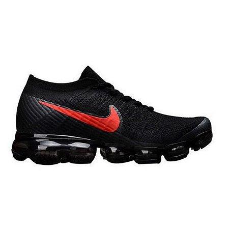 Tênis Nike Air Max VaporMax Flyknit - Preto e Vermelho