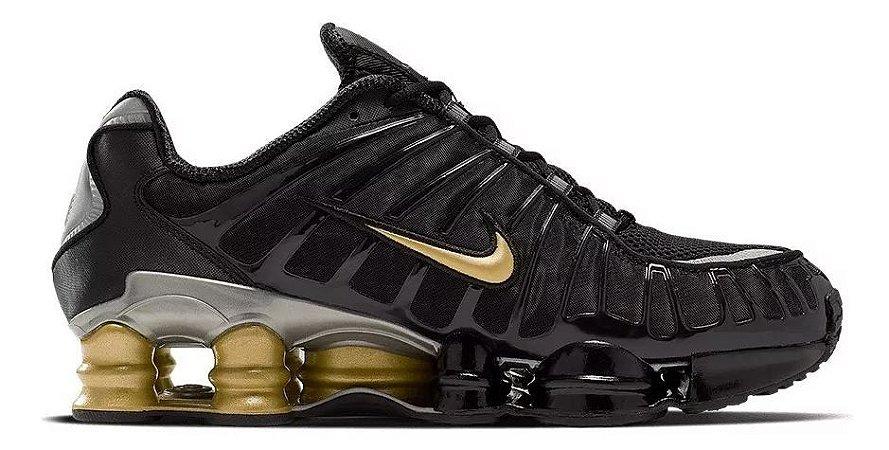 Tênis Nike Shox Tl 12 molas Neymar Jnr - Preto e Dourado
