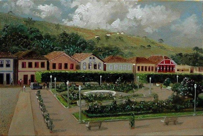 OST 20x30 - Antiga Praça de Divino/MG - Wellington Vilela