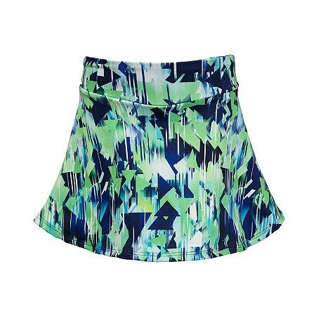 Shorts saia marinho e verde