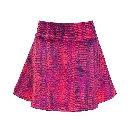Shorts saia mescla pink e roxo
