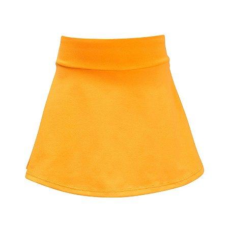 Shorts saia laranja