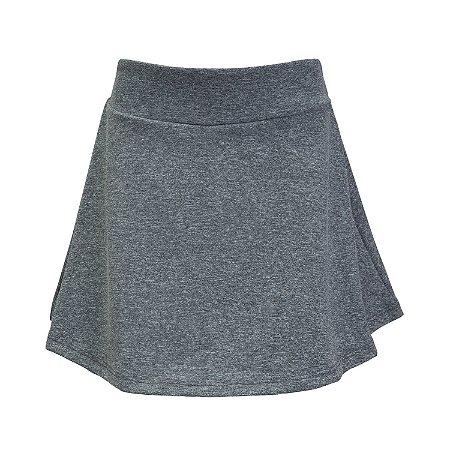 Shorts saia cinza mescla