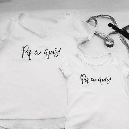 """T-shirt Infantil """"Pq eu Quiz!"""" Pré Venda"""