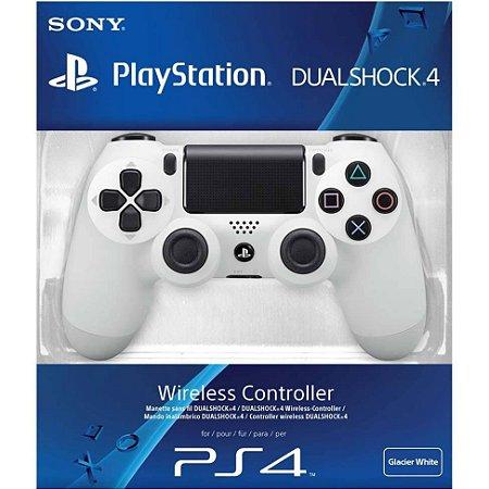 Controle Playstation 4 Dualshock 4 Branco Ps4