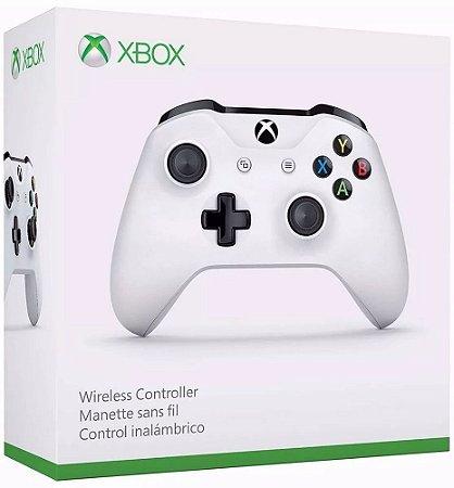 Controle Xbox One S Wireless White Slim Branco