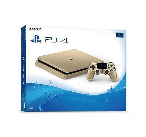 Playstation 4 Dourado Slim 1TB Gold Edition