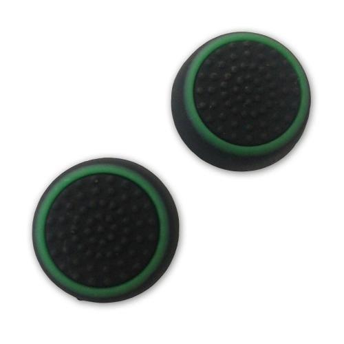 Borracha Grip Para Botão Analógico - Preto / Verde