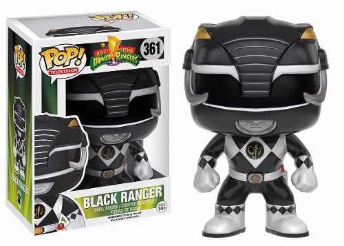 BONECO FUNKO POP POWER RANGERS - BLACK RANGER