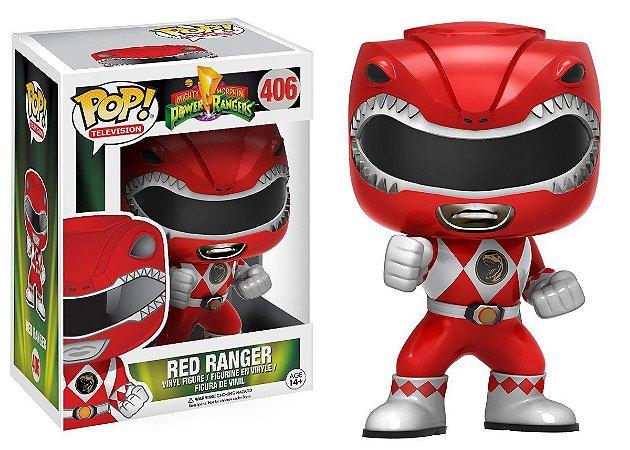 Boneco Vinil FUNKO POP! TELEVISION Power Rangers Red Ranger