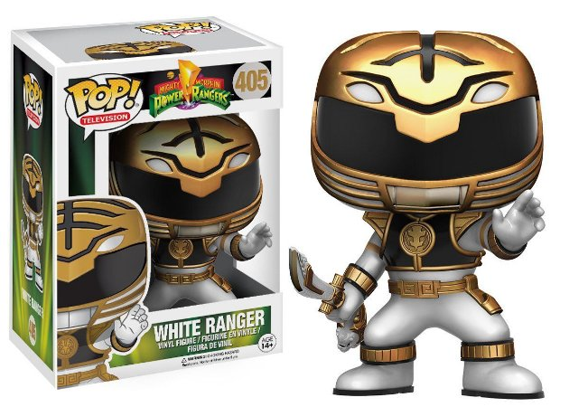 Boneco Vinil FUNKO POP! TELEVISION Power Rangers - White Ranger Actn