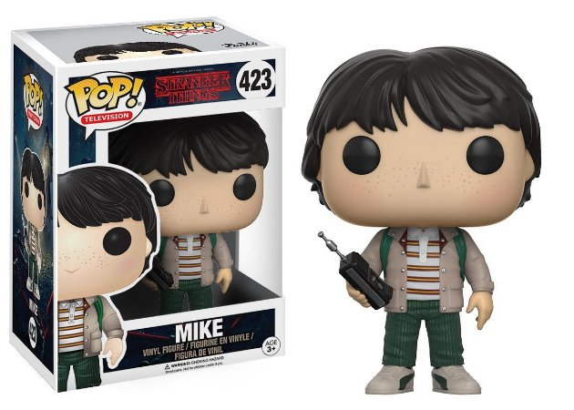 Boneco Vinil FUNKO POP! Television Stranger Things - Mike Walkie Talkie