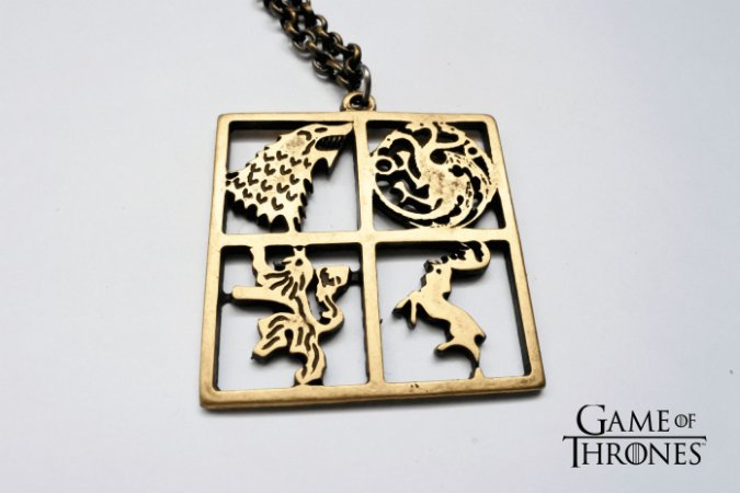 Colar Casas Game Of Thrones- Metal